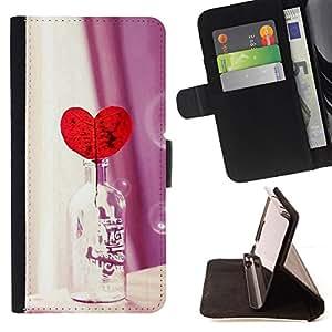 Jordan Colourful Shop - Love Heart Bottle For Apple Iphone 6 - Leather Case Absorci???¡¯???€????€???????????&