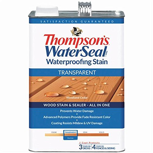 Deck Sealer - THOMPSONS WATERSEAL 041851-16 Transparent Stain, Cedar