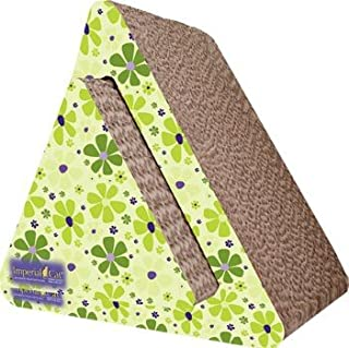 product image for Imperial Cat Triangle Combo Scratch 'n Shape, Retro Lime Floral