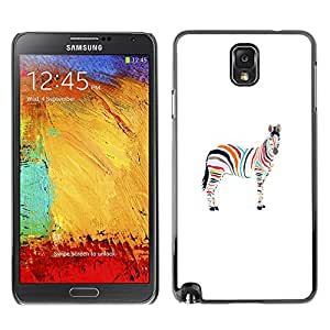 All Phone Most Case / Hard PC Metal piece Shell Slim Cover Protective Case for Samsung Note 3 N9000 N9002 N9005 Minimalist Zebra Artistic Gay