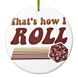 Zazzle That's How I Roll Fantasy Gaming D20 Dice Metal Ornament Circle