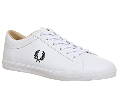 7eb7f316f0691 Fred Perry Men s Baseline Leather Sneaker White 7 D UK (8 ...