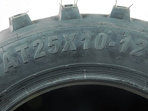 New 4 Set of MASSFX MS Claw 25x10-12 Rear 25x8-12 Front ATV Tires Bear 6ply K299 by MASSFX (Image #4)