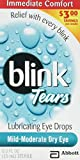Blink Tears Lubricating Mild-Moderate Dry Eye Drops, 0.5 Oz.(pack of 3)