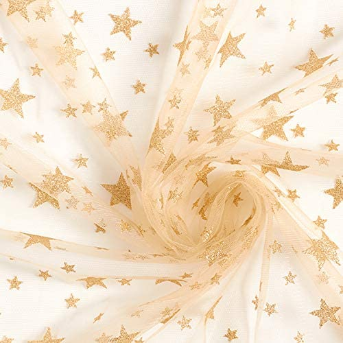 Fabulous Fabrics Tul Estrellas Brillantes – Dorado — Mercancia al ...