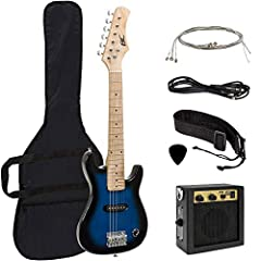 Get ready to rock! This kid's electric guitar set has everything little rockstars need right out of the box. Whether you're just learning the basics or you've mastered every chord, this guitar set is good for rockin' and rollin' all night lon...
