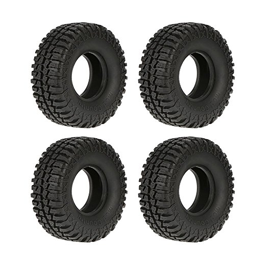 """RcAidong 4Pcs Austar 1.9"""" 100mm Rubber 1/10 Scale Tyre / Wheel Tires for 1:10 Tamiya CC01 RC4WD D90 Axial SCX10 RC Climbing Rock Crawler Parts"""