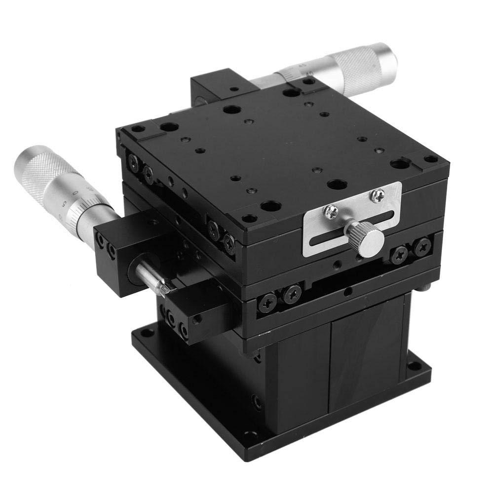 Linear Stage 80x80mm SEMXYZ-80 XYZ Trimming Platform Bearing Fine-Tuning Sliding Table