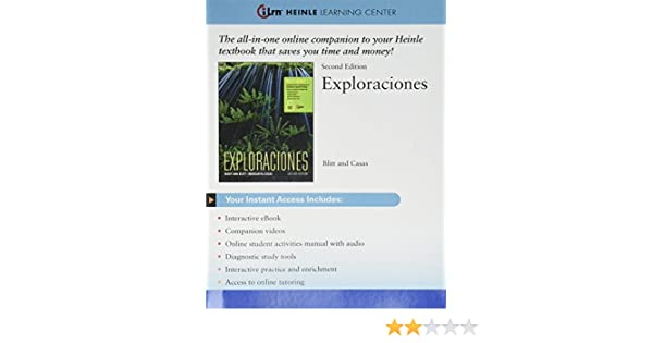 Amazon ILrnTM Language Learning Center 4 Terms 24 Months Printed Access Card For Blitt Casas Exploraciones Student Edition 2nd 9781305257719