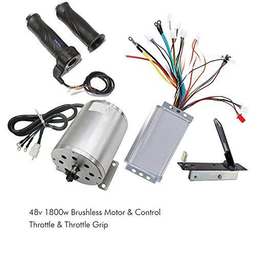 Motor Controller Circuit (TDPRO 48V 1800W Brushless Electric Motor and Controller Throttle Grip Accelerator Pedal Set For Go Kart Scooter E Bike Motorized Bicycle ATV Moped Mini Bikes)