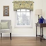 Cheap Waverly 15396052018FLX Brighton Blossom 52-Inch by 18-Inch Arched Window Valance, Flax