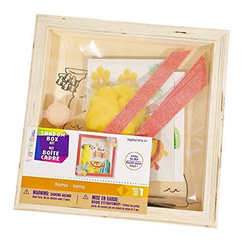 Customizable Wooden Llama Shadow Box Kit - Includes All The Stickers, Paint, and Other Materials You Need - Ages 6+ - Makes 1