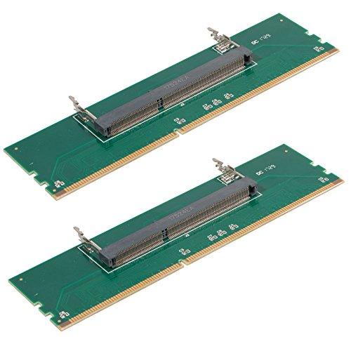 EEEKit 2-Pack Laptop DDR3 RAM to Desktop Adapter Card, Memory Tester 204 Pin SODIMM to 240 Pin DIMM Converter -