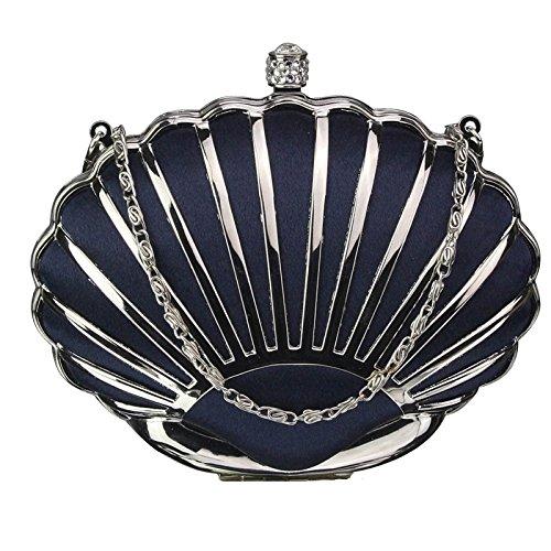 Chain Handbag Design Hard New Shell Navy 1 Luxury With Case Designer Evening Ladies Bag Womens Clutch dOFWYHFPvr