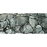 "Dark Silver Rock / Stone Aquarium Background 21"" x 48"" / 55 Gallon / Rocky Fish Tank Background"