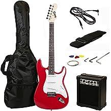 RockJam 6 ST Style Electric Guitar Super Pack with Amp, Gig Bag, Strings, Strap, Picks, Red (RJEG02-SK-RD)