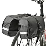 Minoura RC-1000 One Day Pannier Bag and Slim Bicycle Rack Combo, Black