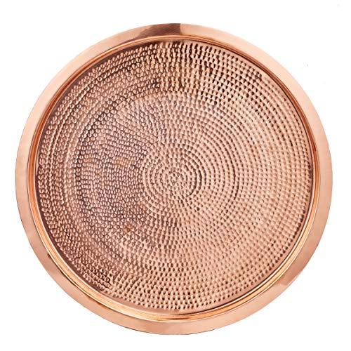 Old Dutch Round Decor - Old Dutch 1527 Stone Hammered Solid Copper Round, 15⅜
