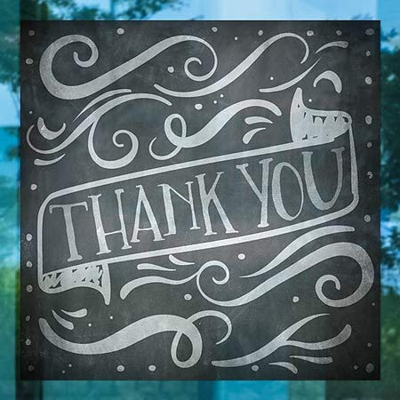 5-Pack CGSignLab Chalk Banner Window Cling 24x24 Thank You