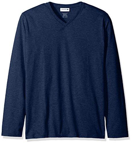 Anchor Long Sleeve T-shirt (Lacoste Men's Long Sleeve V Neck T-Shirt, Anchor Chine, 7)