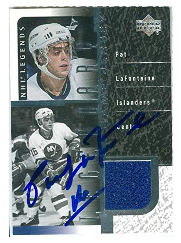 bb96a6c5f Image Unavailable. Image not available for. Color  Autographed Pat  LaFontaine Jersey - card game worn ...
