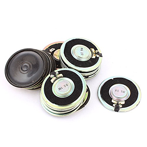 Aexit 20 Pcs 45mm 8 Ohm 1W Metal Shell External Magnetic Speaker Loudspeaker by Aexit