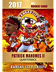 """2017 PATRICK MAHOMES II""""Rookie Phenoms"""" NFL Rookie Card - Gold Platinum Limited Edition - Only 2000 Printed!"""
