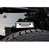 u-Box Silver Front Grille Style LED Third Brake Light Cover Trim for 2007 - 2016 Jeep Wrangler - Set