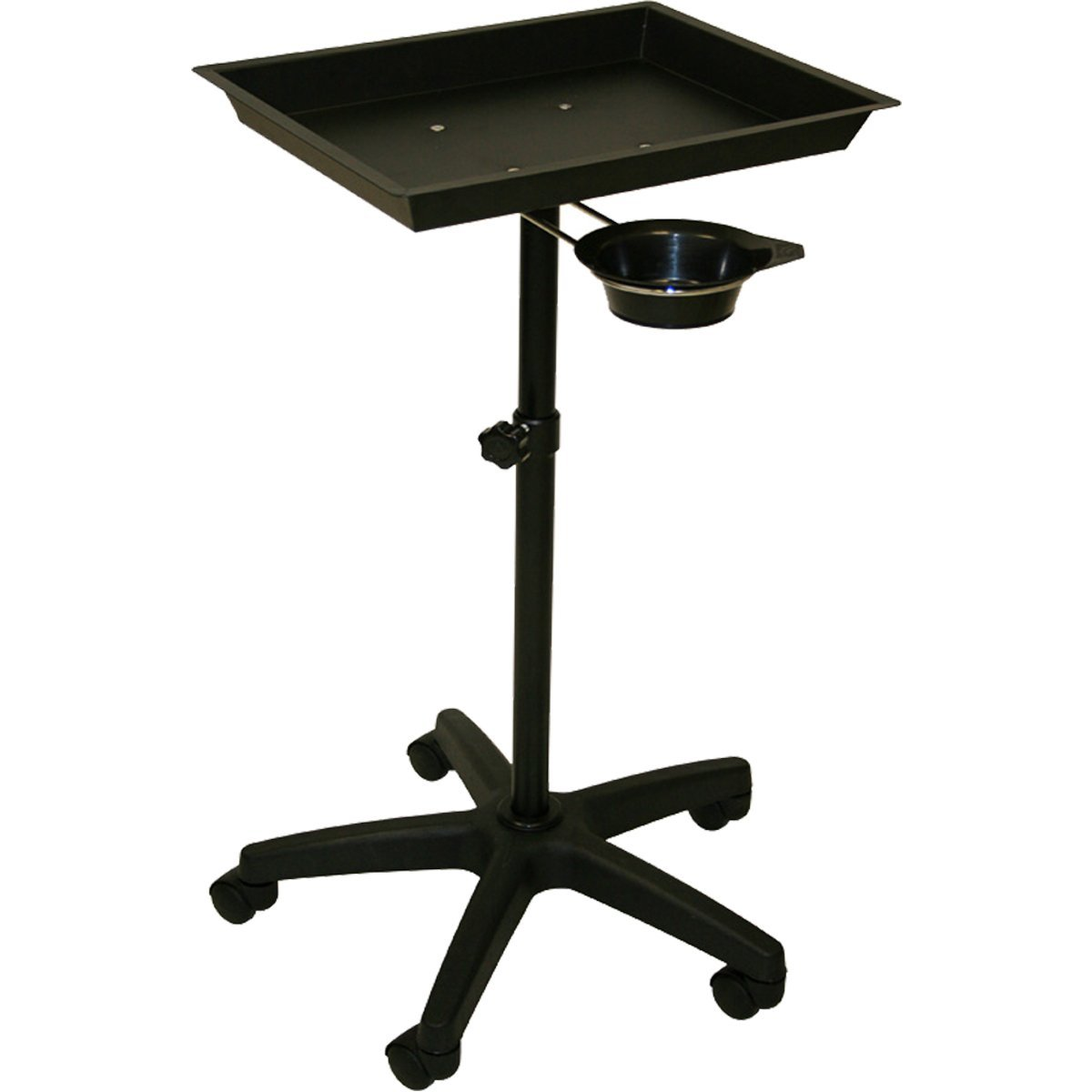 InkBed Black Steel Air-Lift Utility Tray with Removable Utility Cup Tattoo Equipment