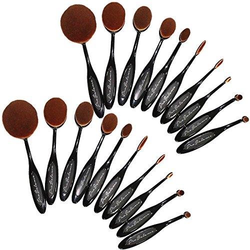 6pcs Pro Cosmetic Brushes Sets(Gold) - 8