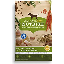 Rachael Ray Nutrish Natural Dry Dog Food, Real Chicken & Veggies Recipe, 40 lb