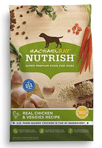- Rachael Ray Nutrish Natural Dry Dog Food, Real Chicken & Veggies Recipe, 14 Lbs