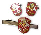 Holy See Vatican Coat of Arms Flag Catholic Pope TIE BAR CLIP CUFFLINKS SET