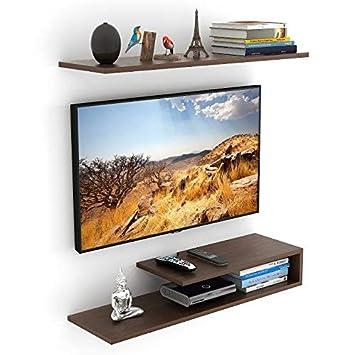 6b79465e264 Bluewud Kunsua TV Entertainment Unit Wall Set Top Box Stand Shelf (Standard  Wenge)  Amazon.in  Home   Kitchen