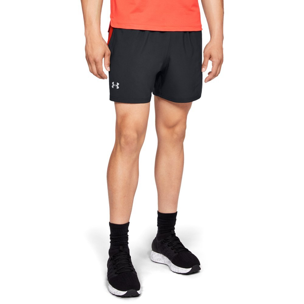 Under Armour Men's Launch Sw 5'' Shorts, Black (010)/Reflective, Small