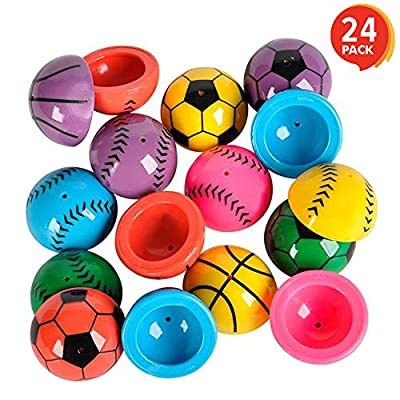 ArtCreativity 1.25 Inch Vinyl Sport Ball Poppers - Pack of 24 - Assorted Colors - Awesome Pop Up Toy - Ideal Impulse Item - Great Small Game Prize, Party Favor and Gift Idea for Boys and Girls Ages 3+: Toys & Games