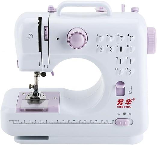 FHSM 505A - Máquina de coser electrónica con pedal de pie totalmente automática, máquina de coser: Amazon.es: Hogar