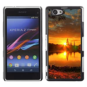 Paccase / SLIM PC / Aliminium Casa Carcasa Funda Case Cover - Sunset Beautiful Nature 57 - Sony Xperia Z1 Compact D5503