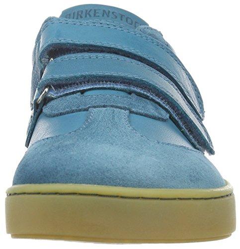 Birkenstock Davao Kinder - Zapatillas con velcro unisex para niños Azul (Petrol)