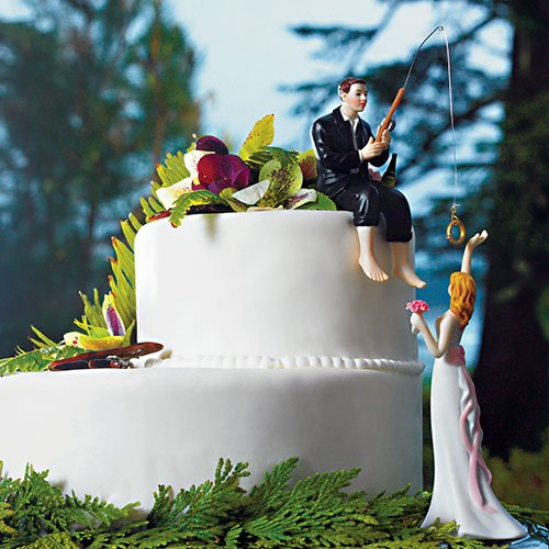 Making Memories Porcelain (Hooked on Love Cake Toppers - Bride and Groom Set)
