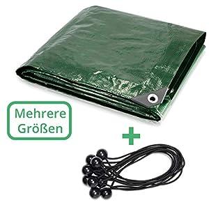 CoverUp! telo 4x6m [200 g/m2] + 15 elastici per telone, telo impermeabile esterno con occhielli per mobili da giardino… 1 spesavip