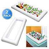 Inflatable Serving Bar 2 PCS /MIJOYEE BBQ Picnic Pool Party Buffet Luau Cooler,Buffet Salad Food & Drink Tray- With Drain Plug