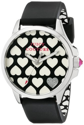 Juicy Couture Women's 1901220 Jetsetter Analog Display Quartz Black ()