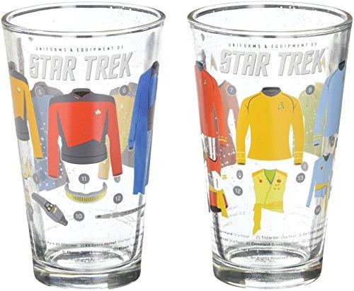 Star Trek Uniforms Pint Glasses (Set of 2)