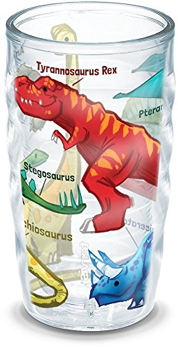 Tervis 1193274 Dinosaurs Insulated Tumbler with Wrap, 10oz Wavy, Clear