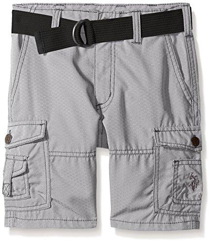 U.S. Polo Assn. Boys Belted Honeycomb Ripstop Cargo Short
