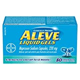 ALEVE Pain Relief Liquid Gels, Strength to Last Up to 12 Hours, Naproxen Sodium 220mg, 80 Liquid Gel Capsules