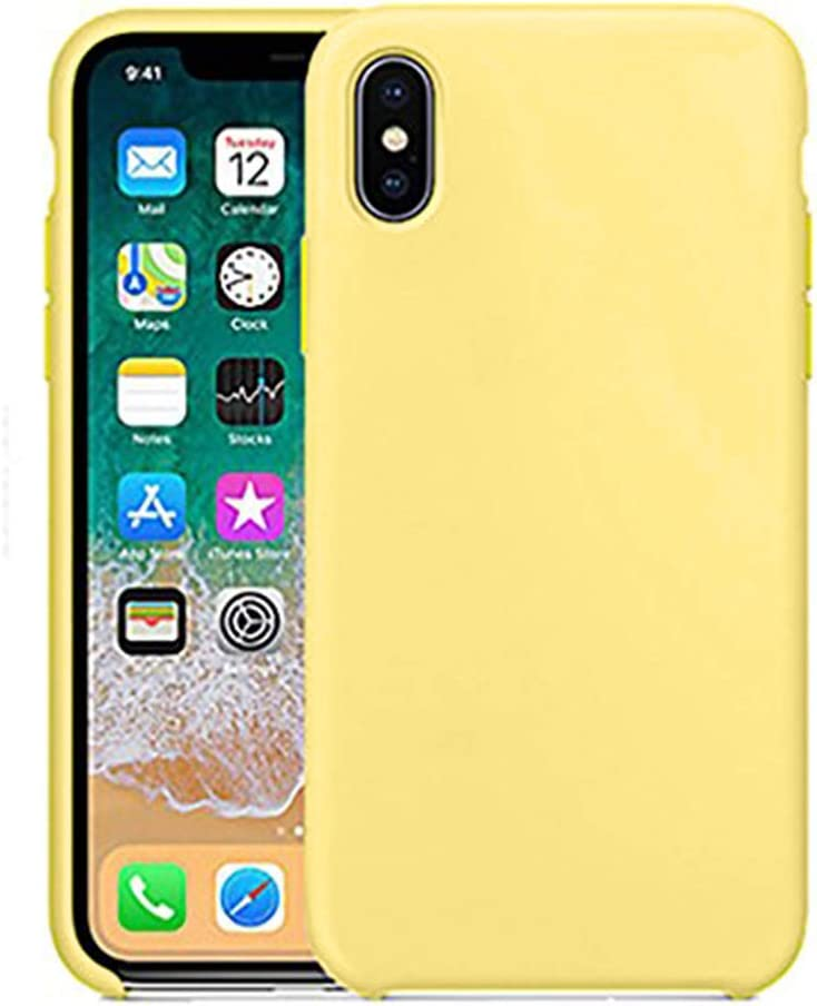 Anyos Compatible iPhone X Case, iPhone Xs Case, Liquid Silicone Gel Rubber Bumper Full-Body Shockproof Anti-Slip Protective Case with Soft Microfiber Cloth Cushion Cover for iPhone X/iPhone Xs, Pollen