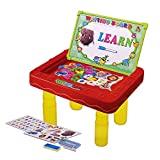 Wishtime 2 in 1 Multifunction Learning Desk with Table Legs and Writing Board Easel Magnetic Board Doodle for Kids