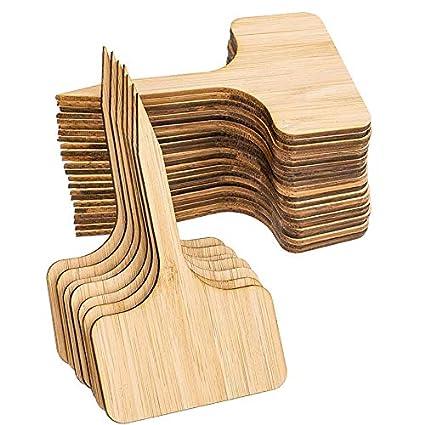 Sothat 50 Piezas de Etiquetas de Plantas de Bambú,De Letreros de ...